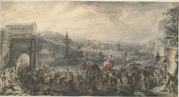 Gabriel de Saint Aubin ~ The Triumph of Pompey (The Metropolitan)